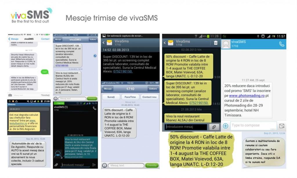 vivasms mesaje trimise campanii sms
