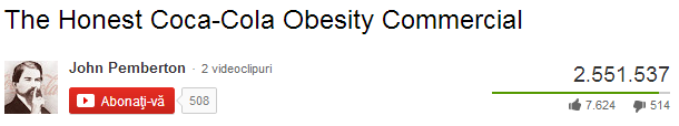 the honest coca cola obesity commercial youtube video