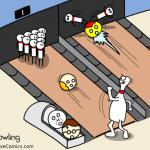 bowling oameni popice