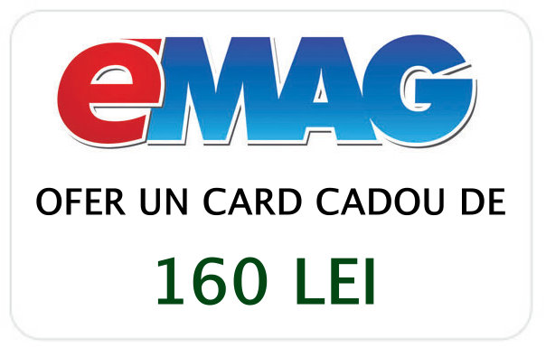 Ofer un card cadou Emag de 160 lei contra unei donații