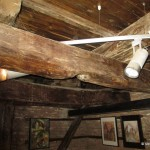 Turnul Sfatului Sibiu-grinzi de lemn vechi