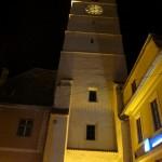 Turnul Sfatului Sibiu-vedere noaptea