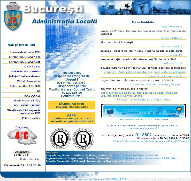 siteul pmb.ro primaria bucuresti