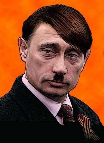 Vladimir Putin cu Premiul Nobel pentru Pace și Hitler Omul anului