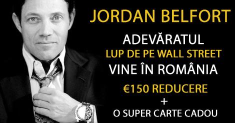 Jordan Belfort – Adevăratul Lup de pe Wall Street Vine în România