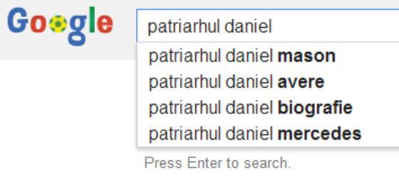 Cei mai căutați termeni pe Google legați de Patriarhul Daniel