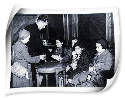 nicholas winton in tren alaturi de copii
