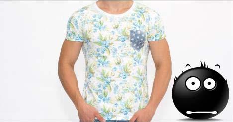 Ultima modă la bărbați: Tricouri model tapet cu flori