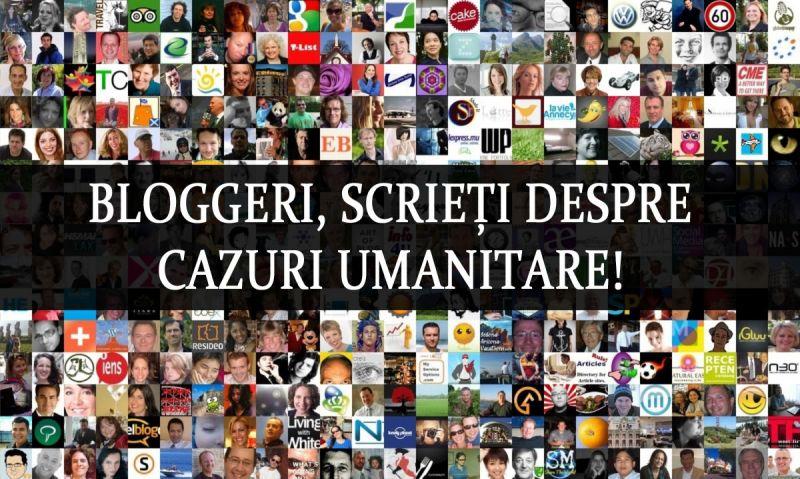 Bloggeri, scrieți despre Cazuri Umanitare!