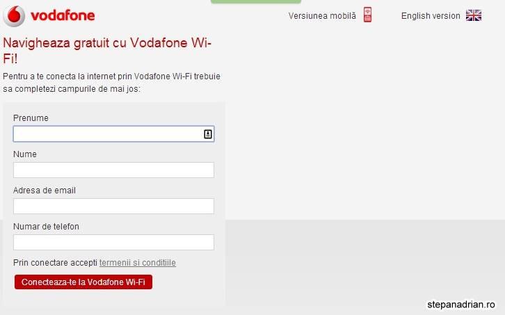 Internet Wi-Fi Gratuit de la Vodafone