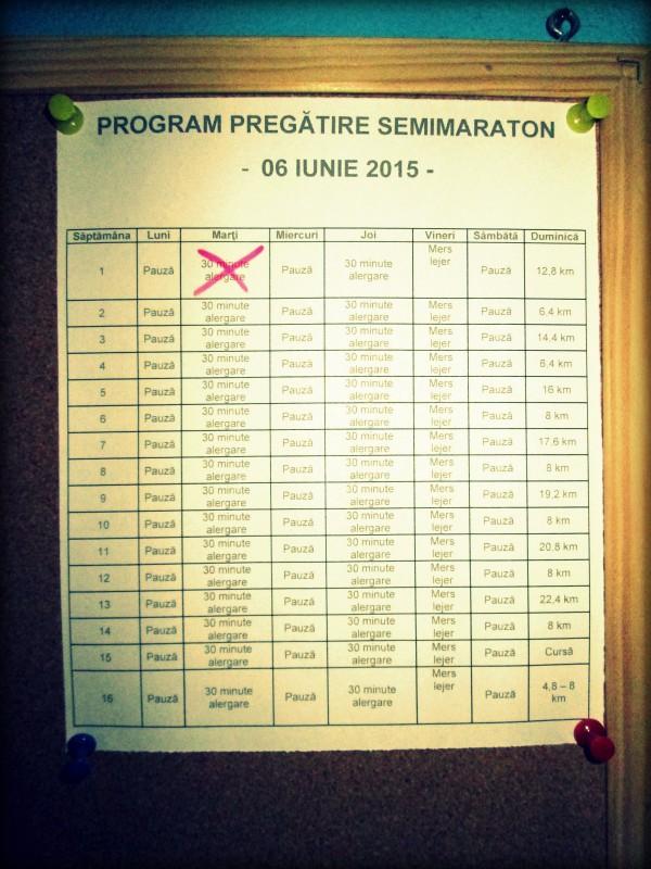 Program Pregătire Maraton