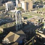 forumul roman si ruinele