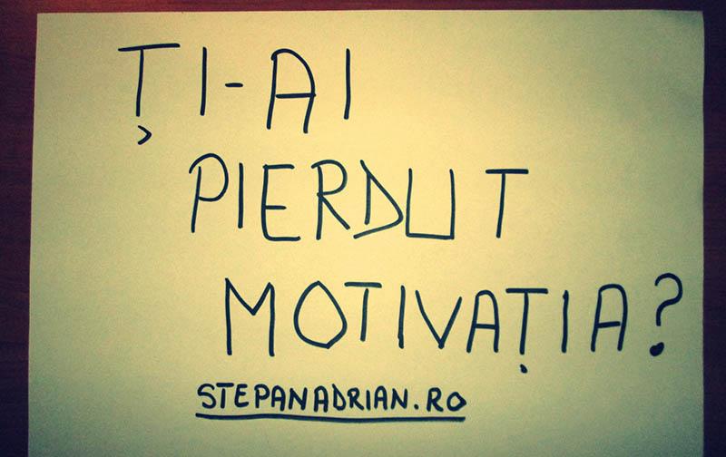Cel mai bun sfat pe care ți-l pot da în legătură cu Motivația
