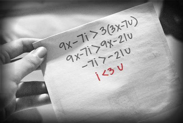 Dragostea se uită la fel ca Matematica