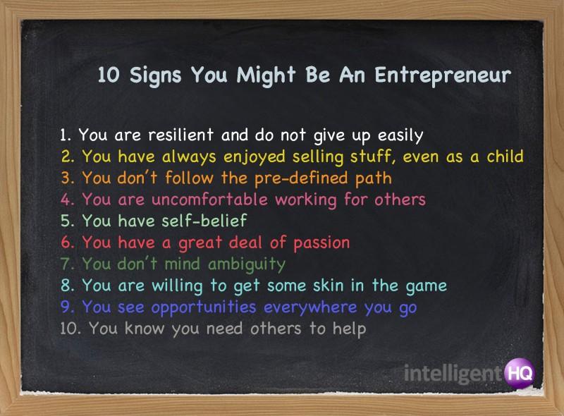 10 semne că ai putea fi un antreprenor