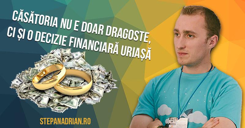 Căsătoria nu e doar dragoste, ci și o Decizie Financiară Uriașă
