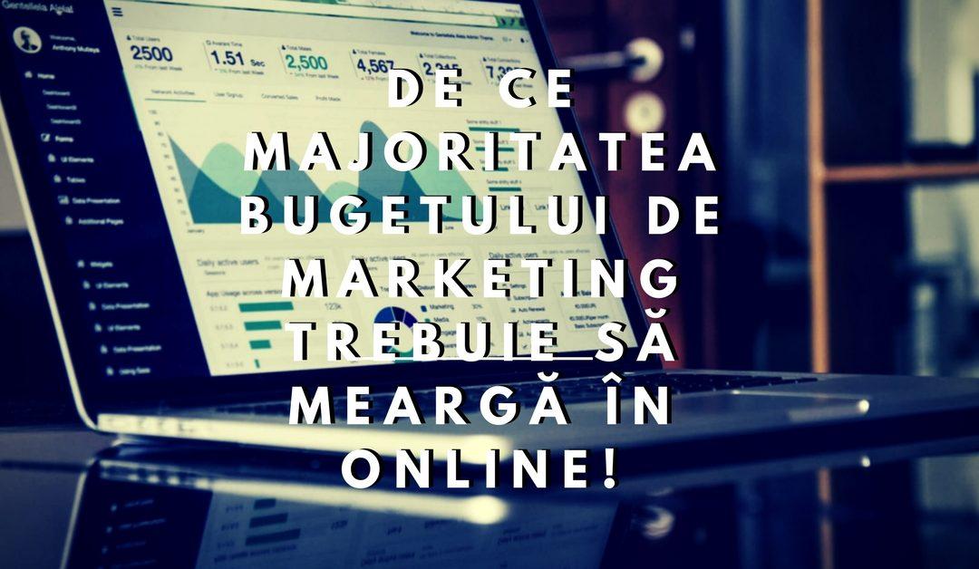 De ce Majoritatea Bugetului de Marketing trebuie să meargă în ONLINE!